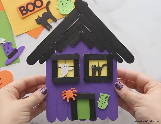 Haunted House Halloween Craft