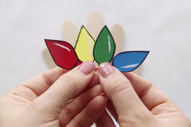 Christmas Lights for Handprint Card