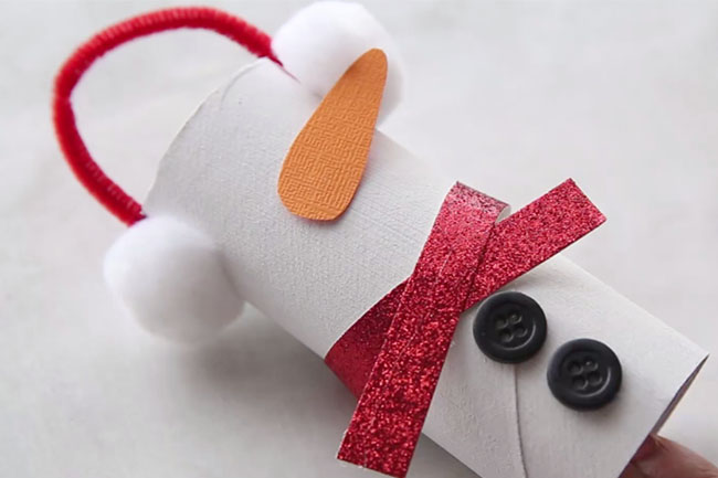 Snowman Toilet Paper Roll Craft for Kids