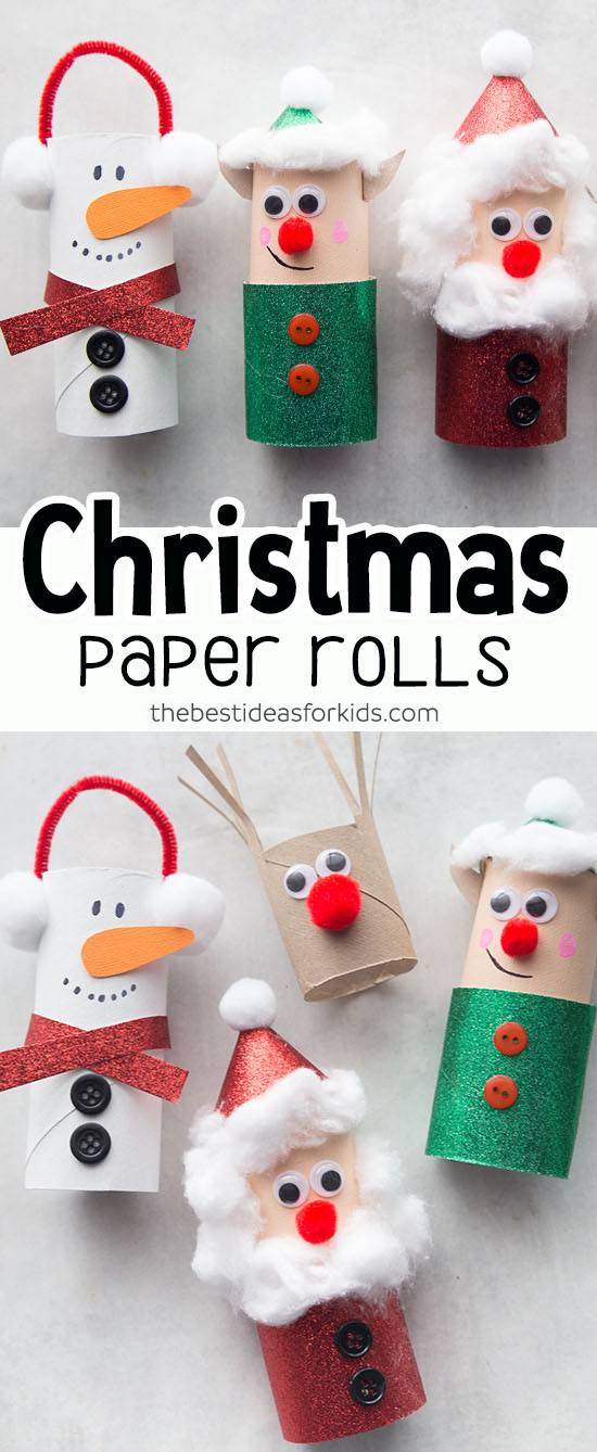 Toilet Paper Roll Christmas Crafts