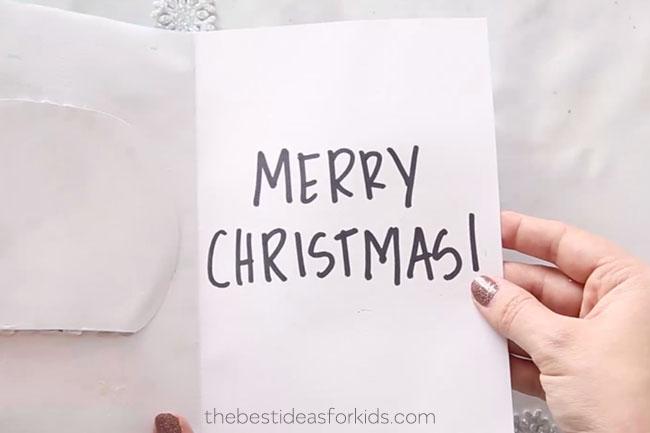DIY Christmas Snow Globe Card