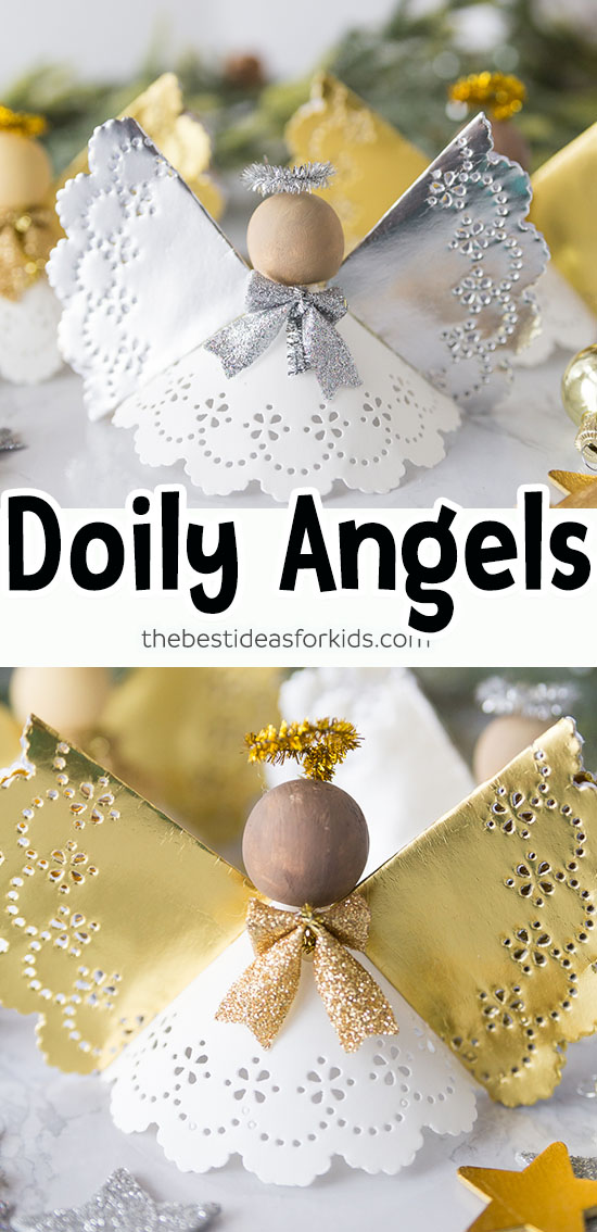 Doily Angel Paper Ornaments