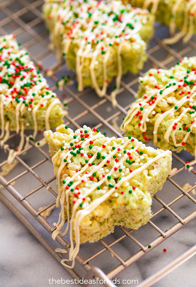 Icing and Sprinkles Rice Krispies Christmas Treats