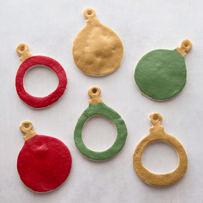 Paint Salt Dough Ornaments