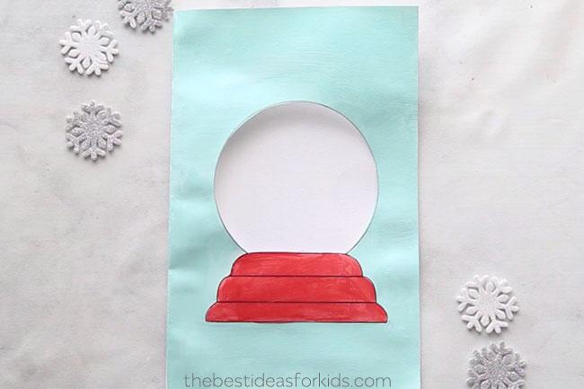 Paint Snow Globe Template