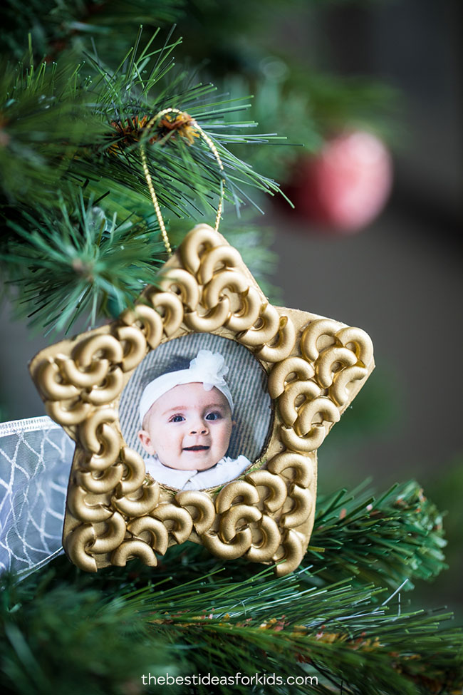 Star Macaroni Christmas Ornament