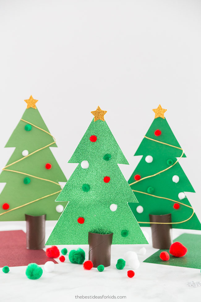 Christmas Tree Outline Template Craft