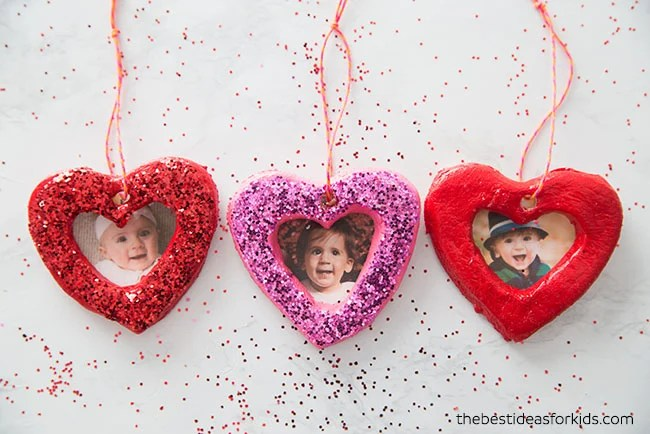 DIY Salt Dough Heart Ornament
