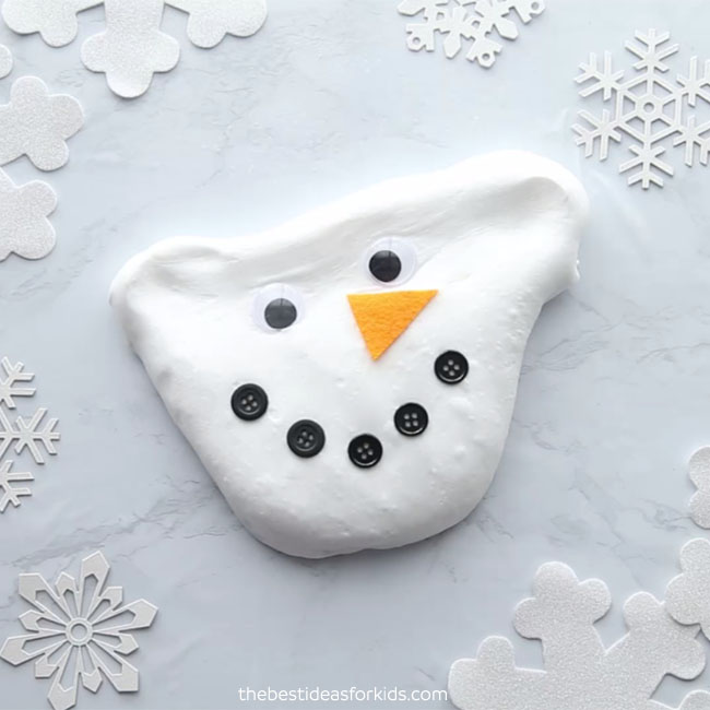 Fluffy Snowman Melted Slime