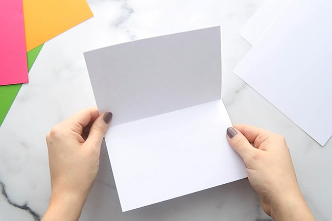 Fold a Piece of Cardstock in Half