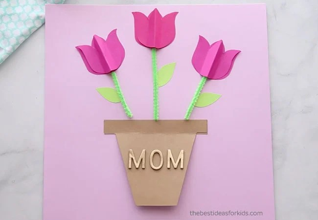 Add Mom Stickers to Mothers Day Card
