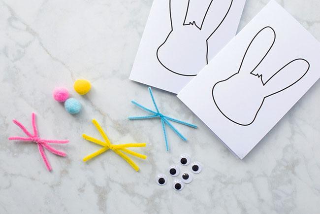 Bunny Card Supplies