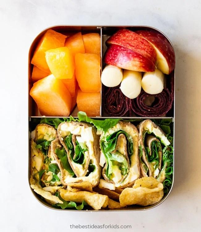 Egg Salad Wrap School Lunch Ideas