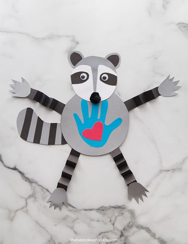 Raccoon Kissing Hand Craft