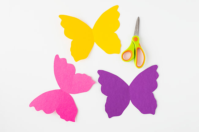 Cut out Paper Roll Butterfly Wings