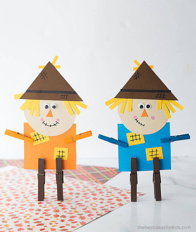 Scarecrow Clothespin Craft