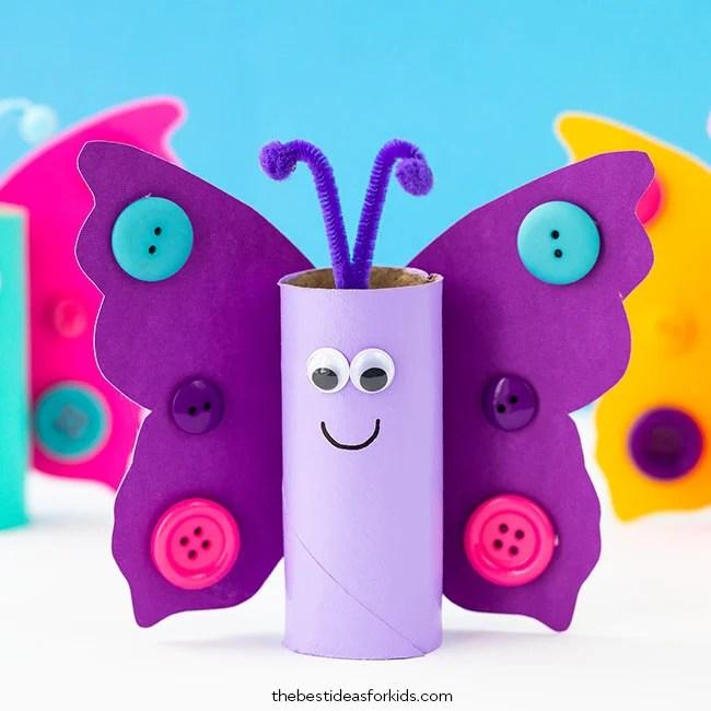 Toilet Roll Butterfly