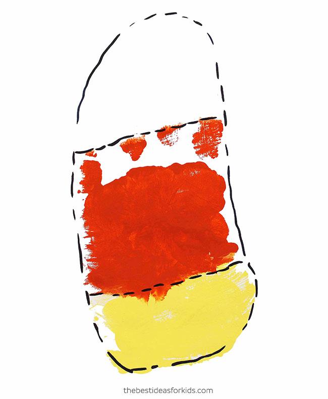 Candy Corn Handprint