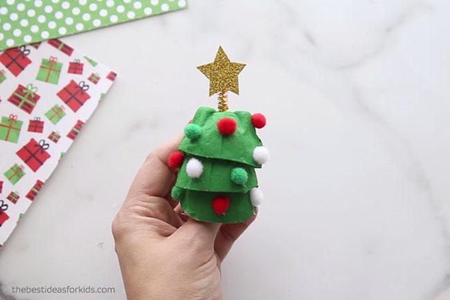 Christmas Tree Egg Cartons