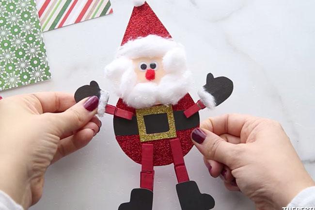 Clothespin Santa Craft