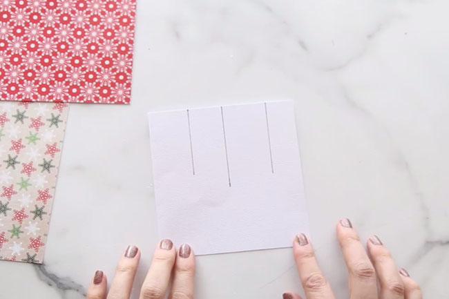 Draw Lines for Ornament Card