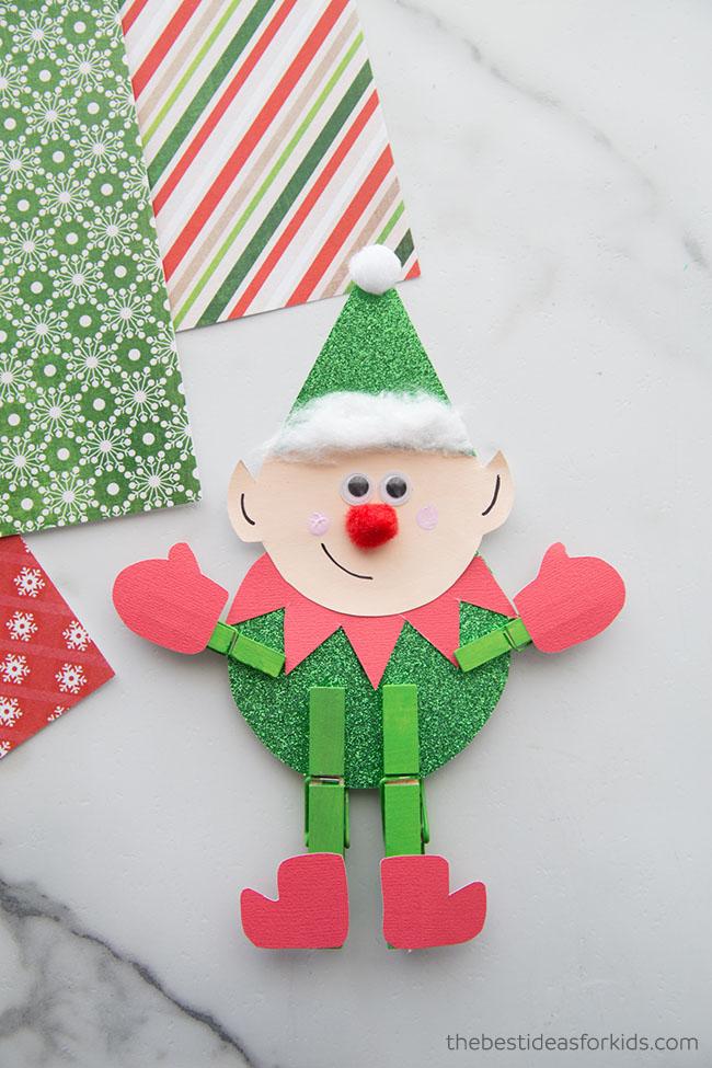 Elf Clothespin Craft