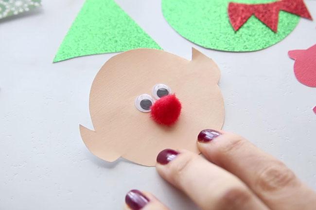 Elf Make Face Clothespin Craft
