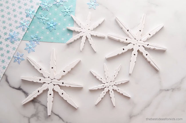Paint Clothespins White