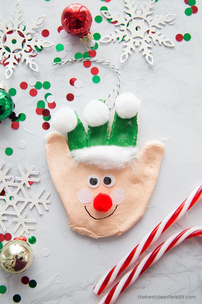 Salt Dough Elf Ornament