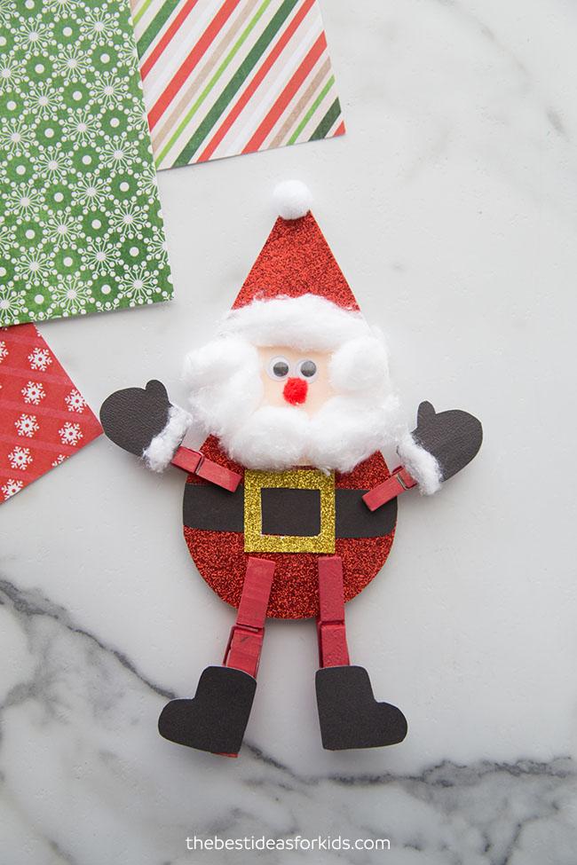 Santa Clothespin Craft