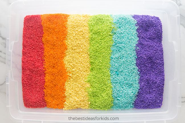 Rainbow Rice DIY