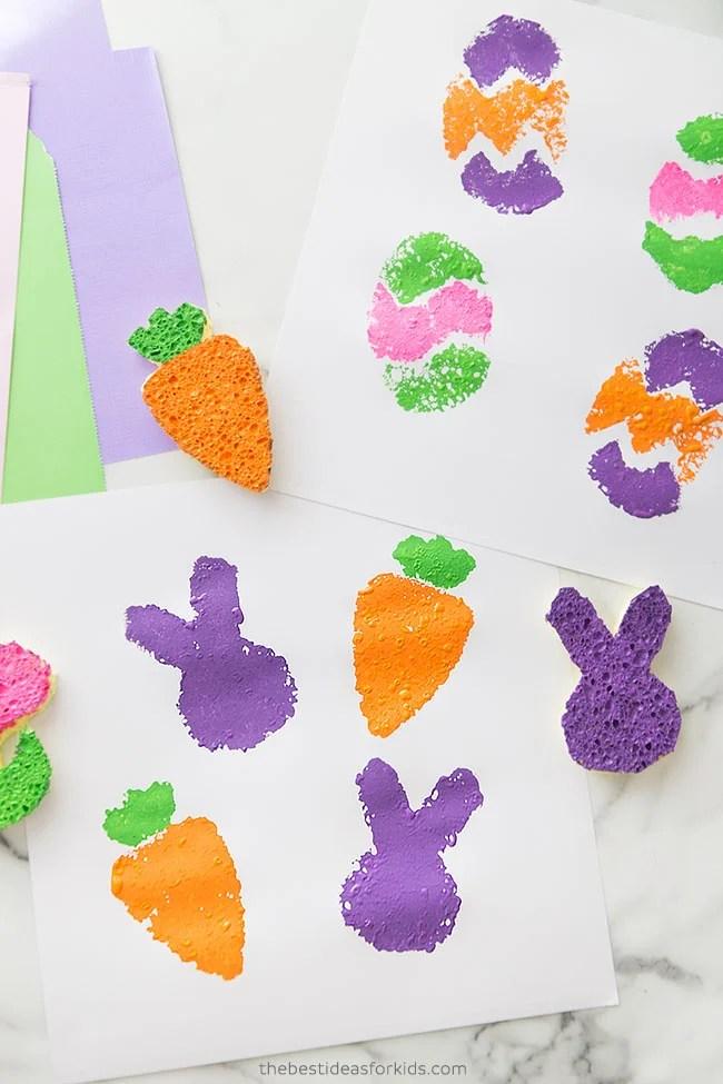 DIY Easter Sponge Painting