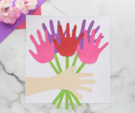 Handprint Flower Bouquet