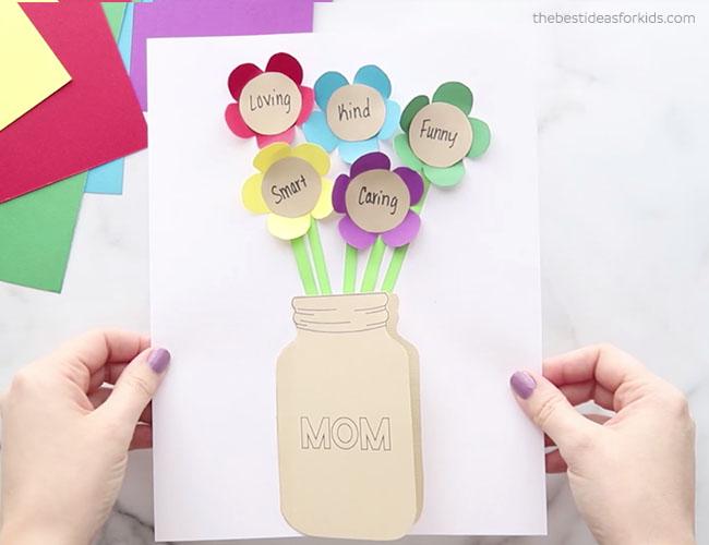 Mason Jar Flower Card