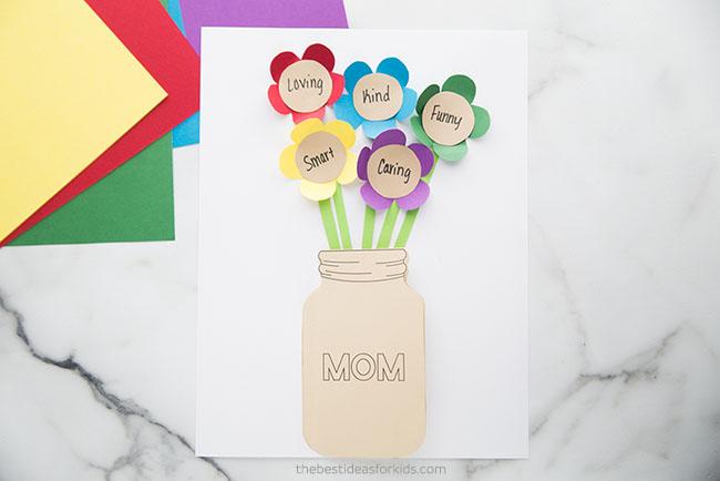Mother's Day Mason Jar Flower Card