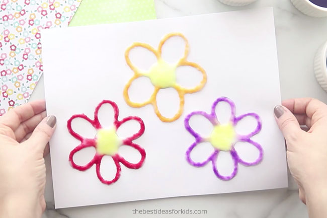 Flower Salt Painted Art
