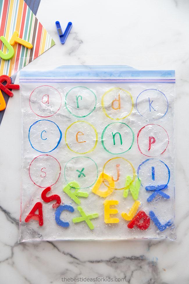 Alphabet Sensory Bag for Kids