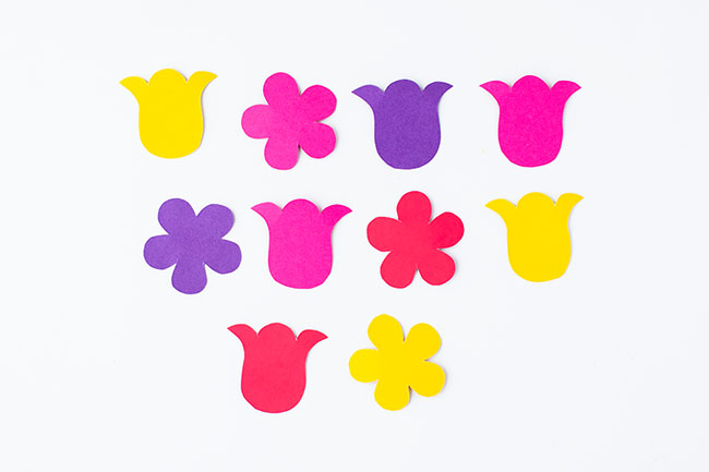 Trace and Cut Out Flowers