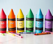 Toilet Paper Roll Crayons