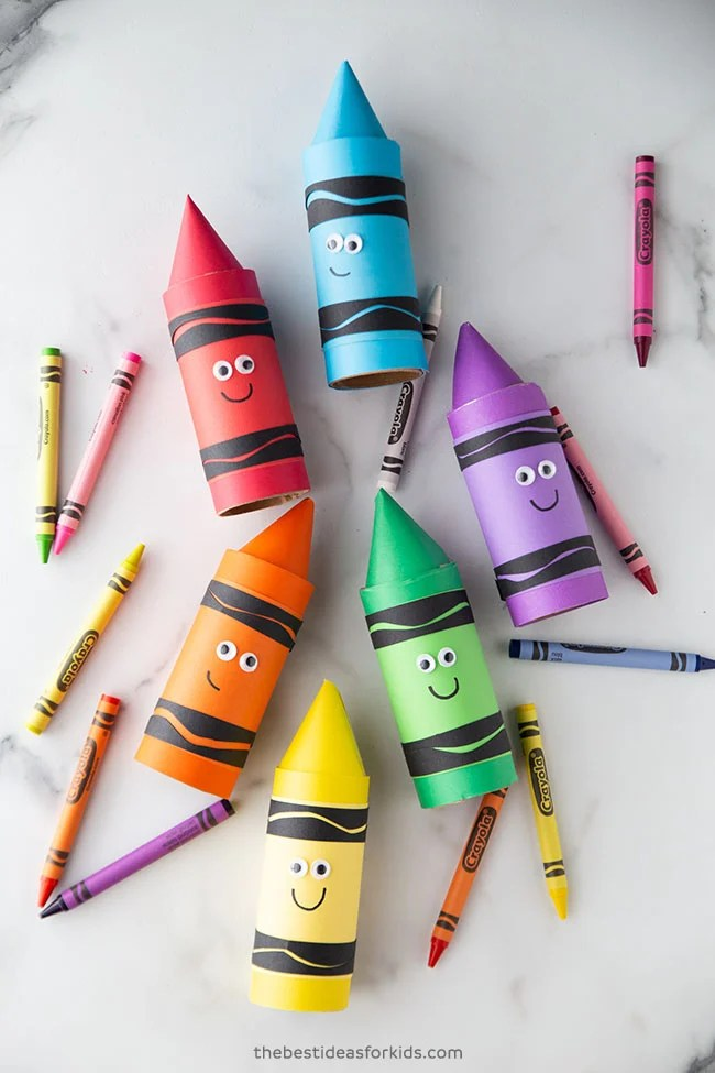 Toilet Paper Roll Crayons Craft