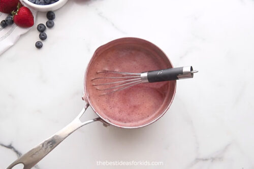 Whisk Puree and Juice Together