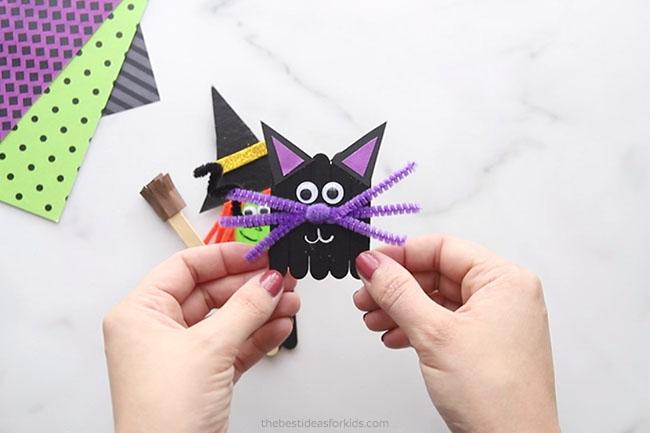 Black Cat Popsicle Stick Craft