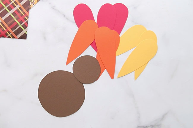 Cut Out Turkey Template on Paper