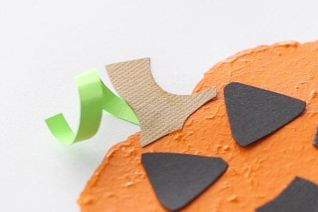 Glue on Pumpkin Stem
