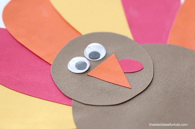 Glue on Turkey Eyes and Beak