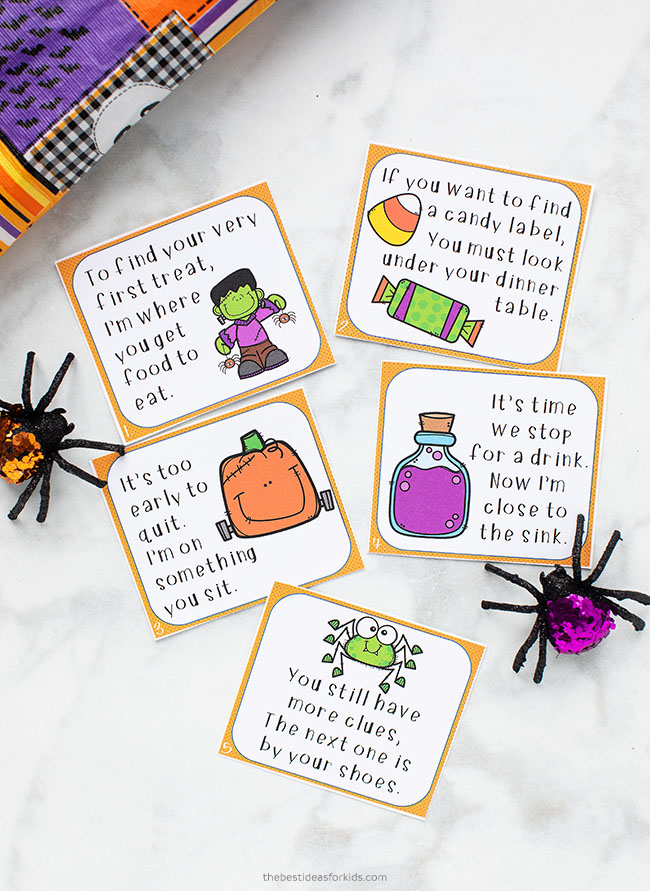 Halloween Scavenger Hunt Printable