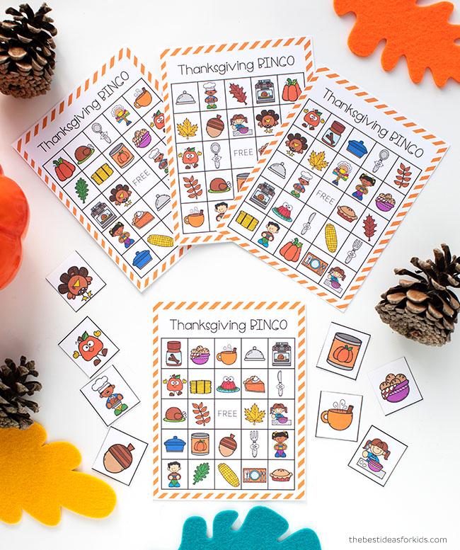 Free Printable Thanksgiving Bingo
