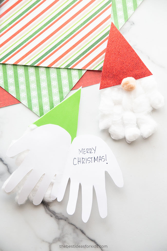 Gnome Christmas Card Handprint