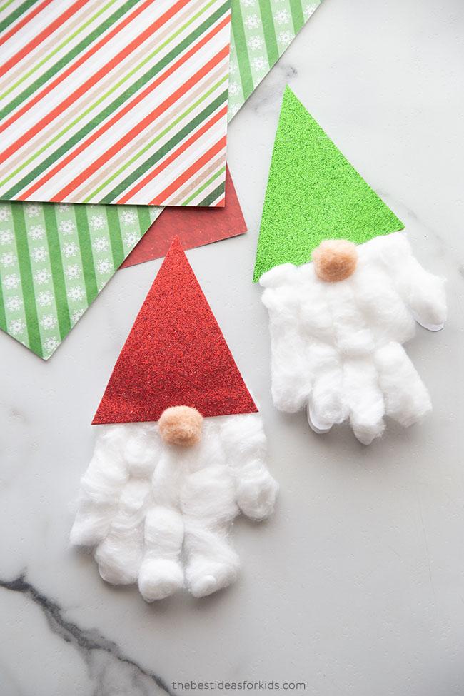Gnome Handprint Cards