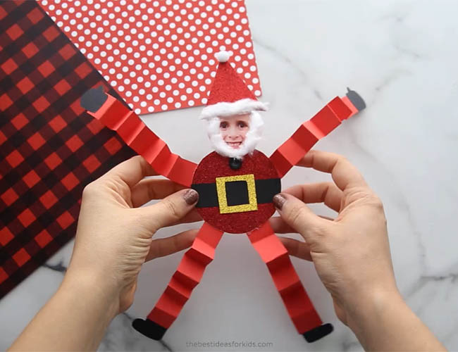Paper Santa Craft for Kids